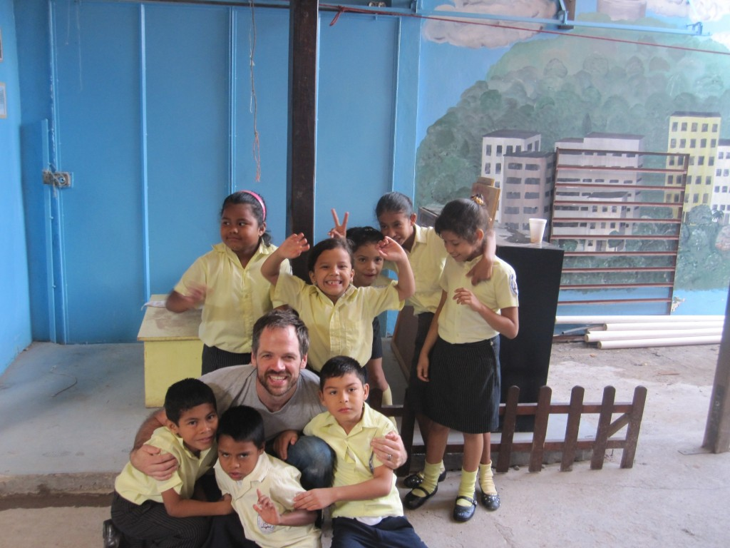 David with Some Deaf Kids at Happy Hands Deaf School